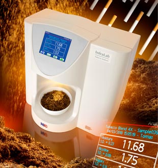 NDC Infralab Benchtop Tobacco Analyzer for At-line Measurements of Moisture, Nicotine and Sugars in Primary and GLT Tobacco Processing